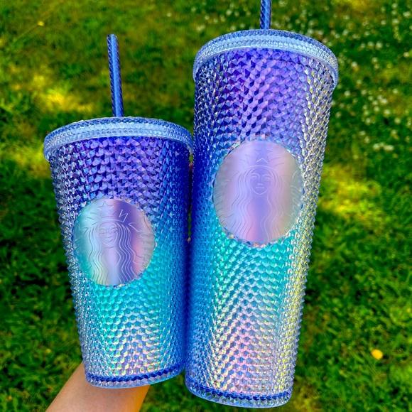 Starbucks Blue Bling Ombré Studded Set